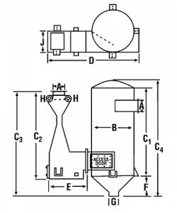 Venturi Scrubber Dimensions